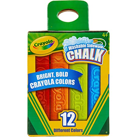 Non-Toxic Toddler Sidewalk Chalk Refills Available 6 Colors 18m+ Easiest to Hold Ready 2 Learn Easy Grip Chalk
