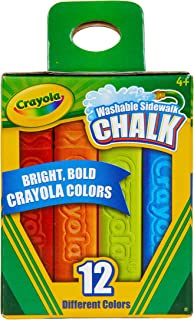 Crayola Washable Sidewalk Chalk, 12 Classic Crayola Colors Outdoor Art Gift for Kids 4 & Up, 12 Classic Crayola Colors, An...
