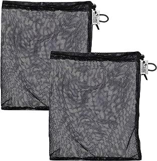 Fairy Storage Heavy Duty Black Mesh Bag Drawstring for Sports Equipment, Mesh Gym Ball Bags, Tennis Ball Bag, Medium 12