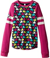 Hatley Kids - Ski Bunny Bonded Reversible Tee (Toddler/Little Kids/Big Kids)