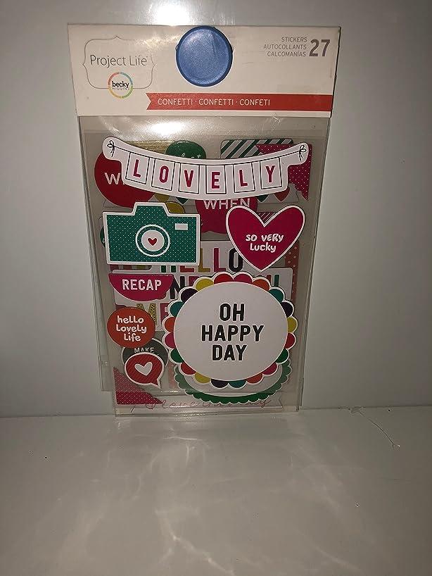 Project Life Chipboard Stickers 27/pkg - Confetti Edition