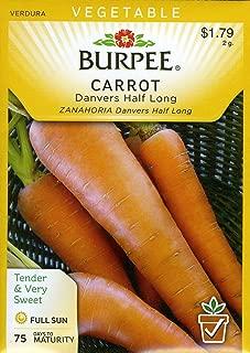 Burpee 65821 Carrot Danvers Half Long Seed Packet