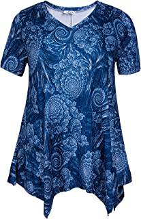 ZERDOCEAN Women Plus Size Printed Short Sleeves Tunic...