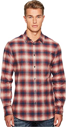 Check Metal Wired Collar Shirt