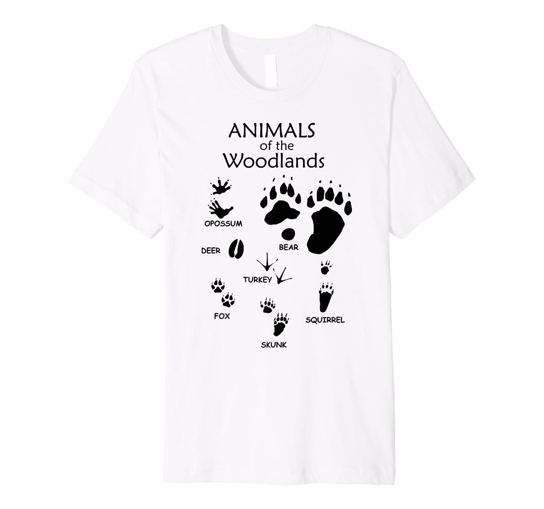 Amazon Com Woodland Cute Animal Paw Print Shirt Bear Fox Skunk Turkey Premium T Shirt Clothing 260 x 280 png 9 кб. woodland cute animal paw print shirt