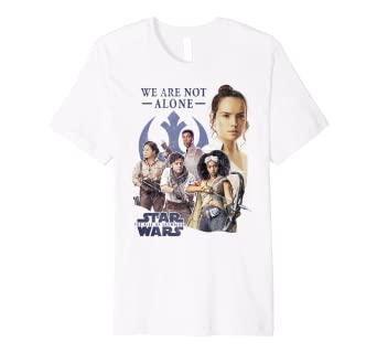 Amazon Com Star Wars The Rise Of Skywalker We Are Not Alone Group Shot Premium T Shirt Clothing