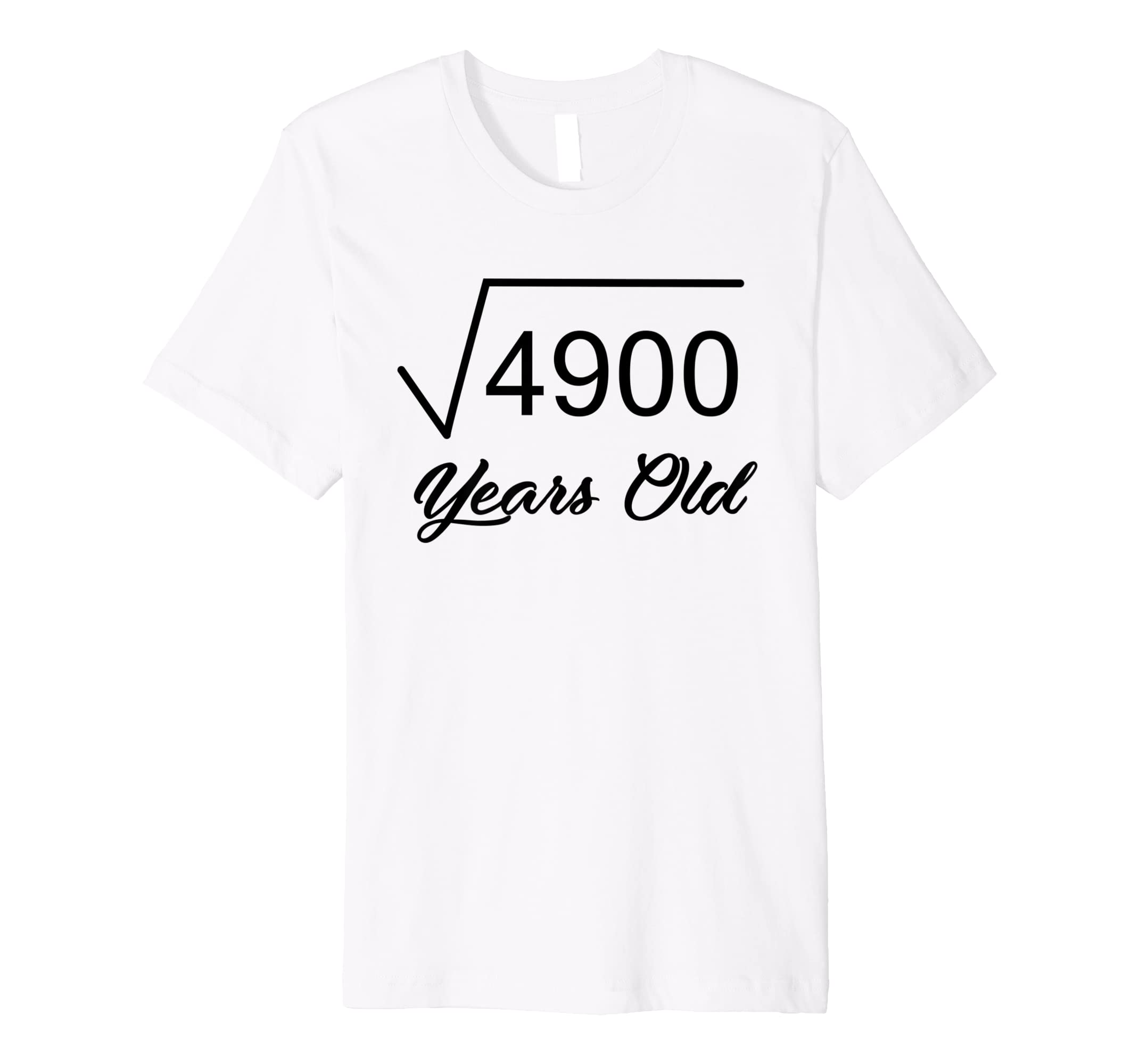 Amazon 70th Birthday T Shirt Gift 70 Years Old Square Root Of 4900 Clothing