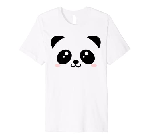 e44310b4274e Amazon.com: Cute Panda Bear - Black & White Kawaii cartoon animal ...
