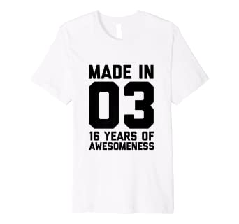 16th Birthday Shirt Girls Age Sixteen 16 Year Old Gift Boys Amazoncouk Clothing