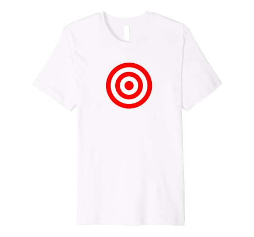 66cc470a Image Unavailable. Image not available for. Color: Bullseye Red & White  Shooting Rings Target Funny Tee Shirt