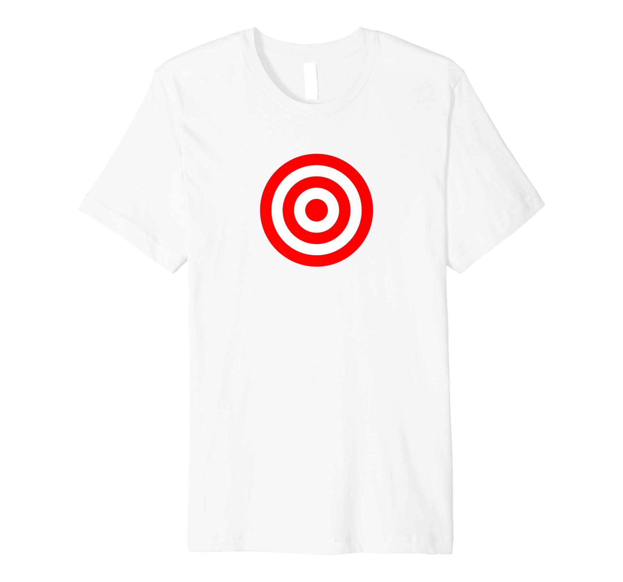 fa6f6672 Amazon.com: Bullseye Red & White Shooting Rings Target Funny Tee Shirt:  Clothing