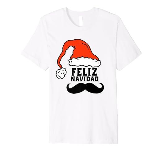 03b9efe79 ... com feliz navidad t shirt spanish with mustache and santa ...