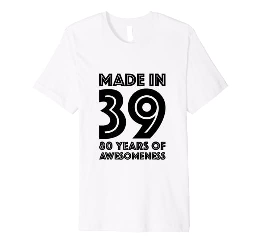 04a682e8 Image Unavailable. Image not available for. Color: 80th Birthday Tshirt Men  Age 80 Year Old Women Gifts Eighty