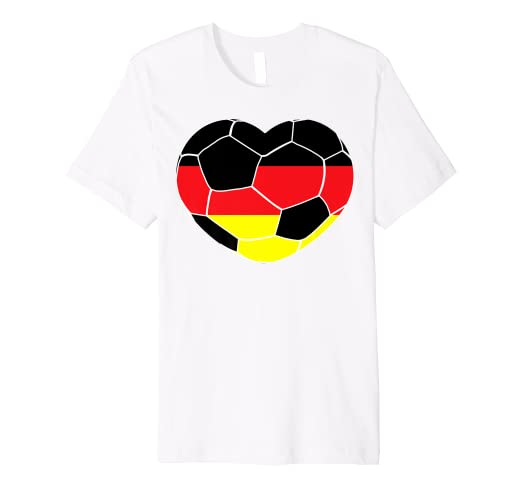 303fb3b54 Image Unavailable. Image not available for. Color  Germany Soccer Ball  Heart Jersey Shirt German Football Gift