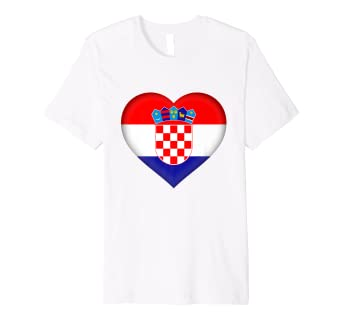 8806eaa8675 Image Unavailable. Image not available for. Color: I Love Croatia T-Shirt | Croatian  Flag Heart Outfit