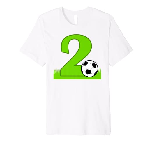 6878ed94 Image Unavailable. Image not available for. Color: 2nd Birthday Soccer T- Shirt for 2 years old