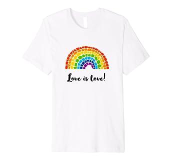 Love Is Love Lgbt Regenbogen T Shirt Für Frauen Männer Amazonde