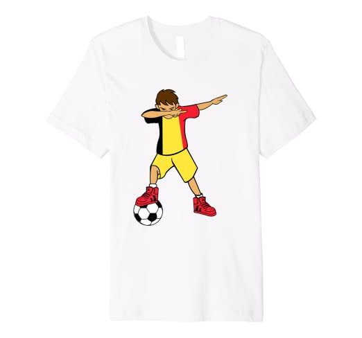 8347e695665 Image Unavailable. Image not available for. Color: Dabbing Soccer Boy T Shirt  Belgium Belgians Football