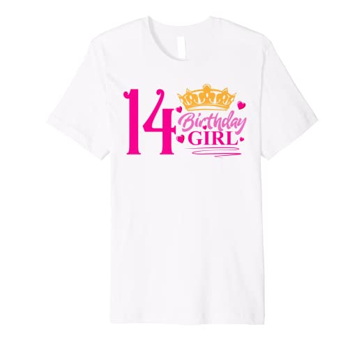 Image Unavailable Not Available For Color Queen 14th Birthday Girl Shirt Party 14 Years Old Bday