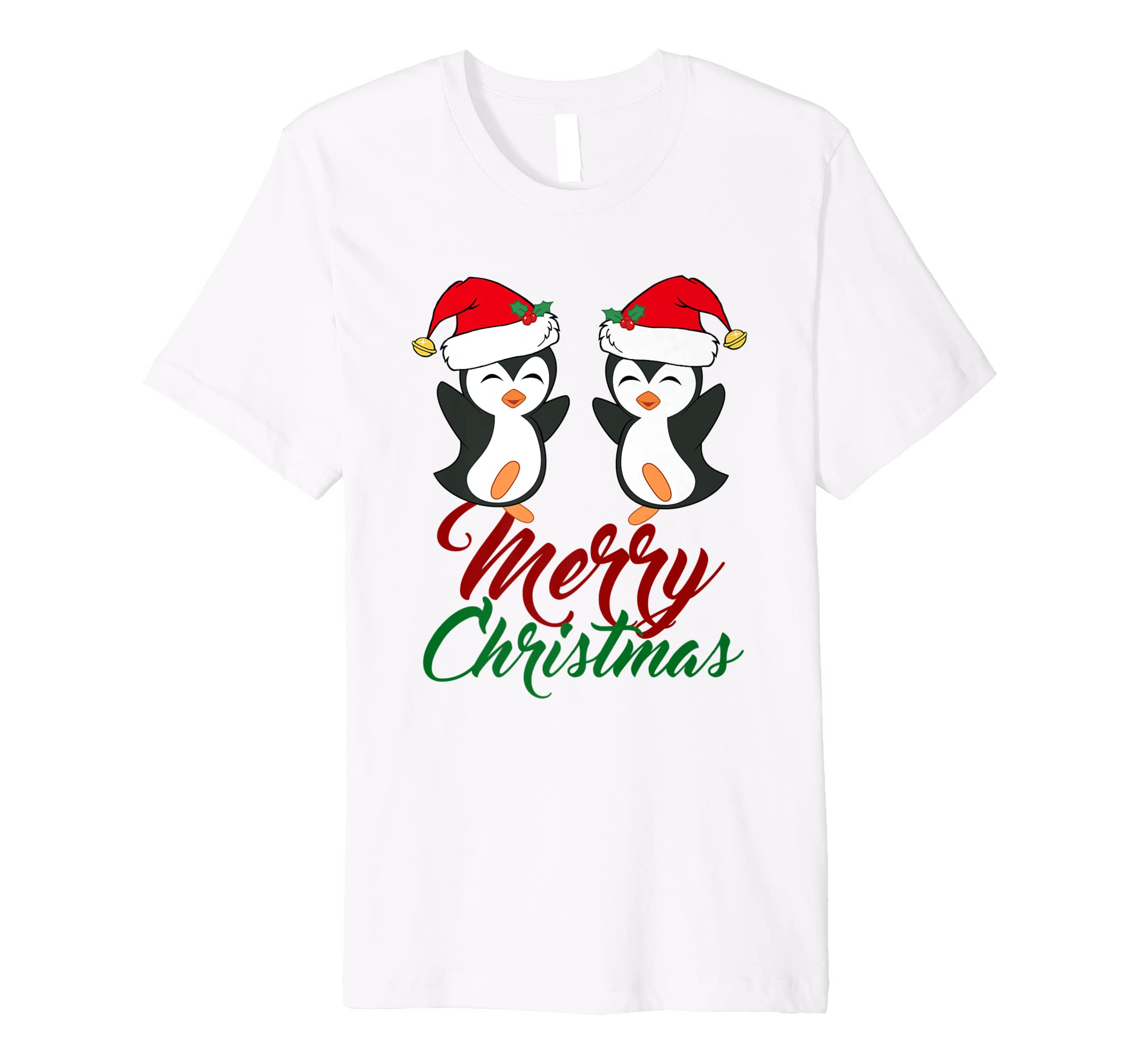 f1fcc7482a228 Merry Christmas Penguins T-Shirt - Cute Penguin Gift at Amazon Men s  Clothing store