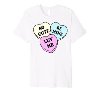 967dc8a0077a0 Amazon.com: Valentine's Day Heart Candy Premium Graphic T-Shirt ...