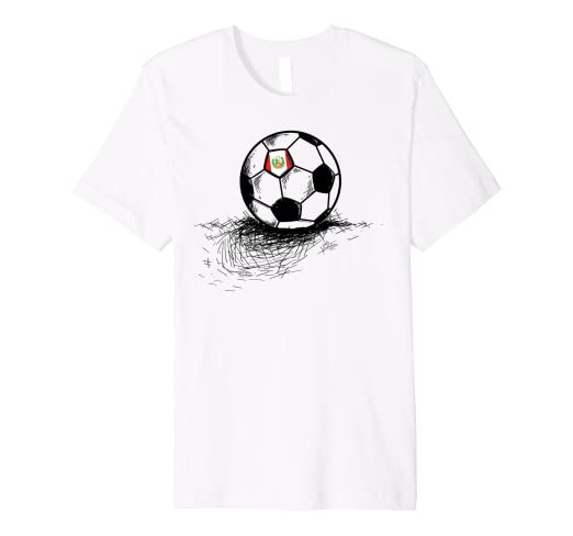 4b3960055c6 Image Unavailable. Image not available for. Color  Peru Soccer Ball Flag  Jersey Shirt - Peruvian Football