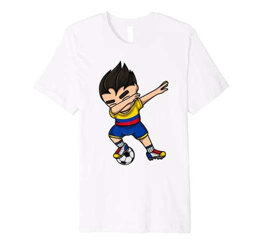 c948f526e Amazon.com  Dabbing Soccer Boy Colombia Jersey Shirt Colombian ...