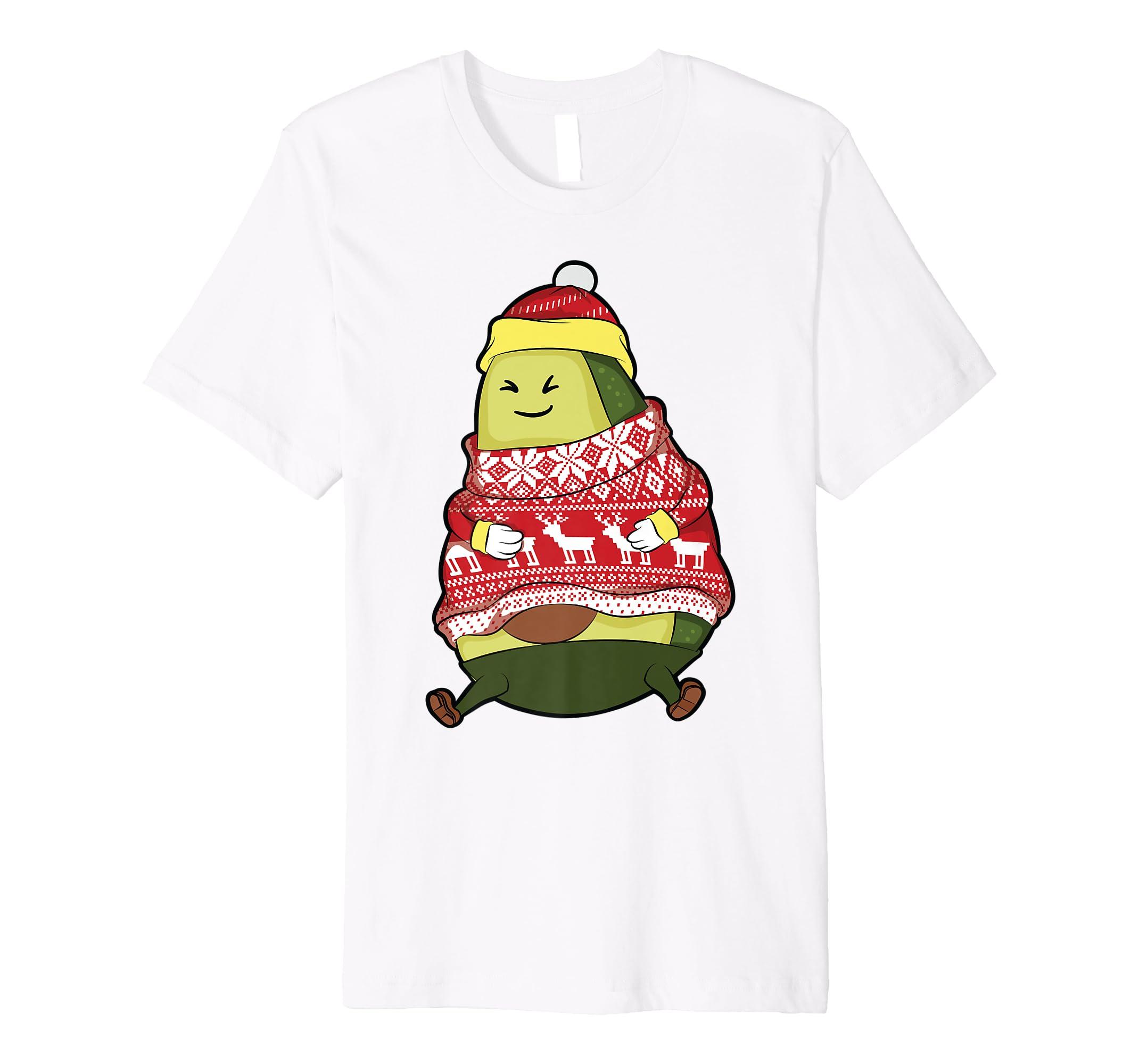 8a96aa93c1ccb Amazon.com  Avocado Ugly Christmas Sweater Shirt