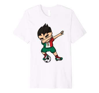 fe84bc2eba4 Image Unavailable. Image not available for. Color: Dabbing Soccer Boy Mexico  Jersey Shirt - Mexican Football