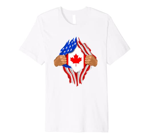 Amazon Com Canadian Blood Inside Me T Shirt Canada Flag