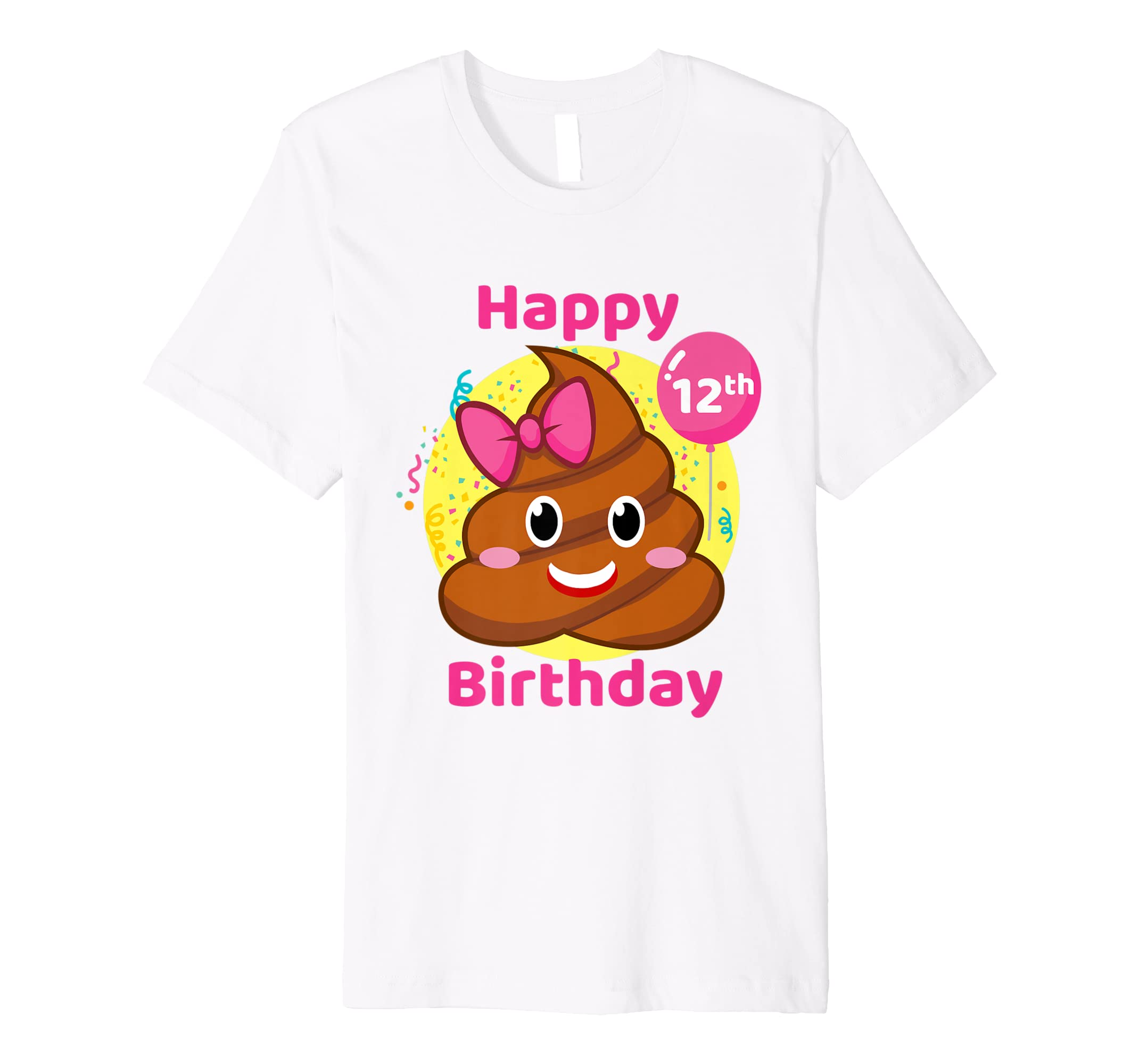 Amazon Poop Emojis Birthday Shirt Girls 12th Party 12 Years Old Clothing