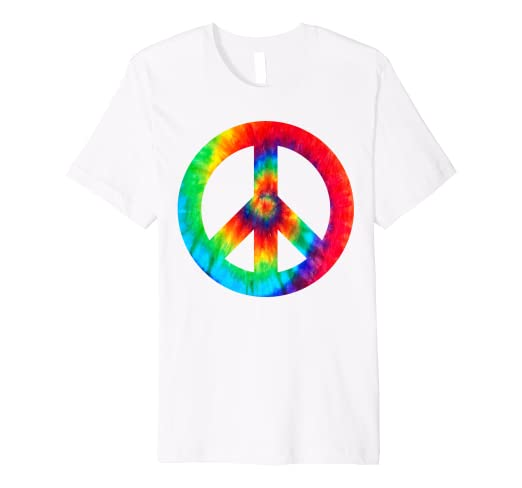 db270da51 Image Unavailable. Image not available for. Color: Cool Peace Sign Tie Dye T -Shirt For Boys And Girls