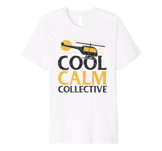 026441e8 Image Unavailable. Image not available for. Color: Cool Calm Collective  Helicopter RC Pilot T-Shirt