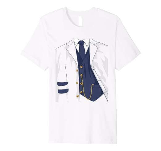 933433f72 Image Unavailable. Image not available for. Color: Cool Train Conductor  Halloween Costume Shirt ...