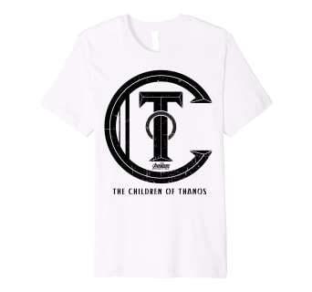 403f9fc068d Image Unavailable. Image not available for. Color  Marvel Infinity War  Children Of Thanos Logo Premium T-Shirt