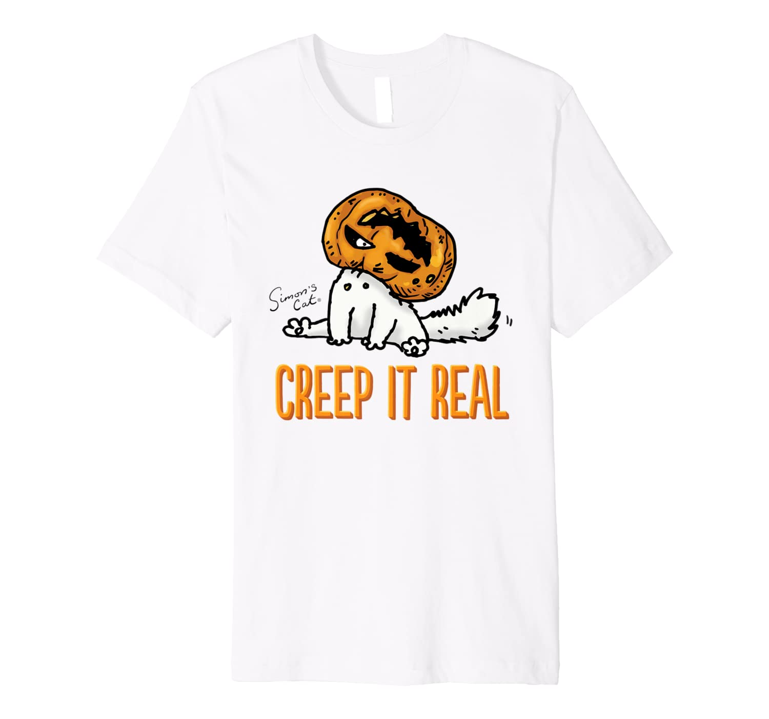 "Simon's Cat: ""Creep it Real"" Light T-shirt"