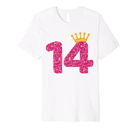 Image Unavailable Not Available For Color Happy Birthday Shirt Girls 14th Party 14 Years Old Bday
