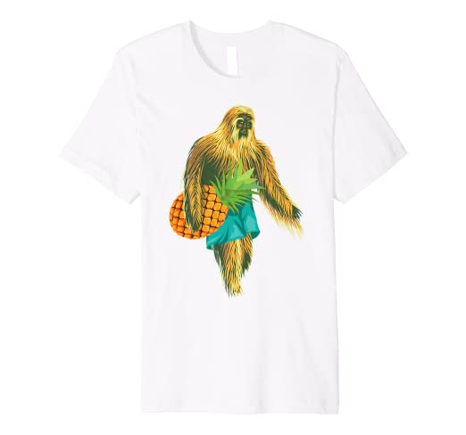 09edde3f Image Unavailable. Image not available for. Color: Bigfoot Carrying  Pineapple Shirt | Cool Undefeated Ape Gift