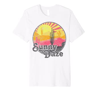 cb5d40ac22 Amazon.com: Sunny Days Colorful Dessert Sunset Graphic Premium T ...