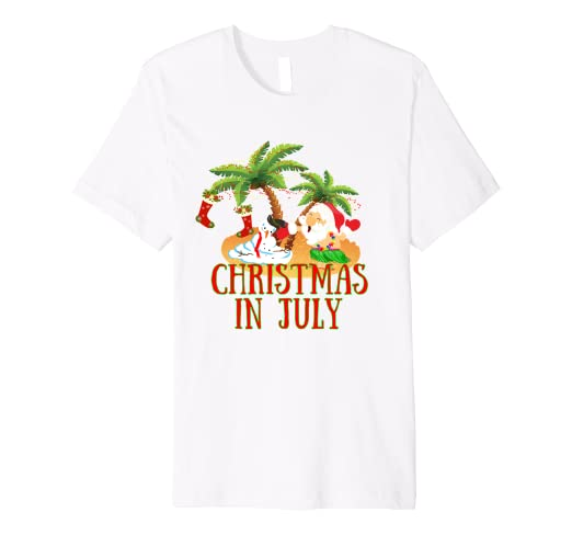 fe09aaa7d076 Image Unavailable. Image not available for. Color  Christmas in July Shirt  Santa Claus Hawaiian Summer ...