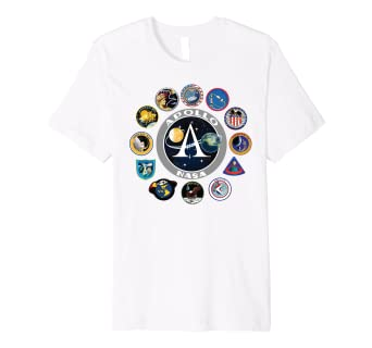 1f2afd6754d22 NASA Program Shirt Project Apollo Mission Patch TShirt