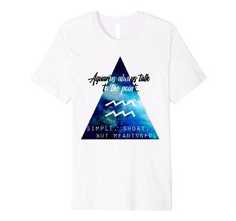 7036df51 Amazon.com: Aquarius Zodiac Sign Quote T-Shirt: Clothing
