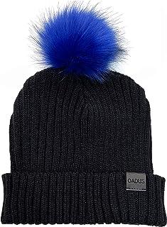 قبعة شتوية فضفاضة للنساء من OADUS مع فراء صناعي قابل للإزالة