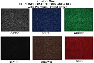 Koeckritz Rugs Custom Sized Soft Indoor/Outdoor Area Rugs with Premium Bound Edges. Perfect for Wedding, Party, Graduation, Prom, Ceremonies, etc.