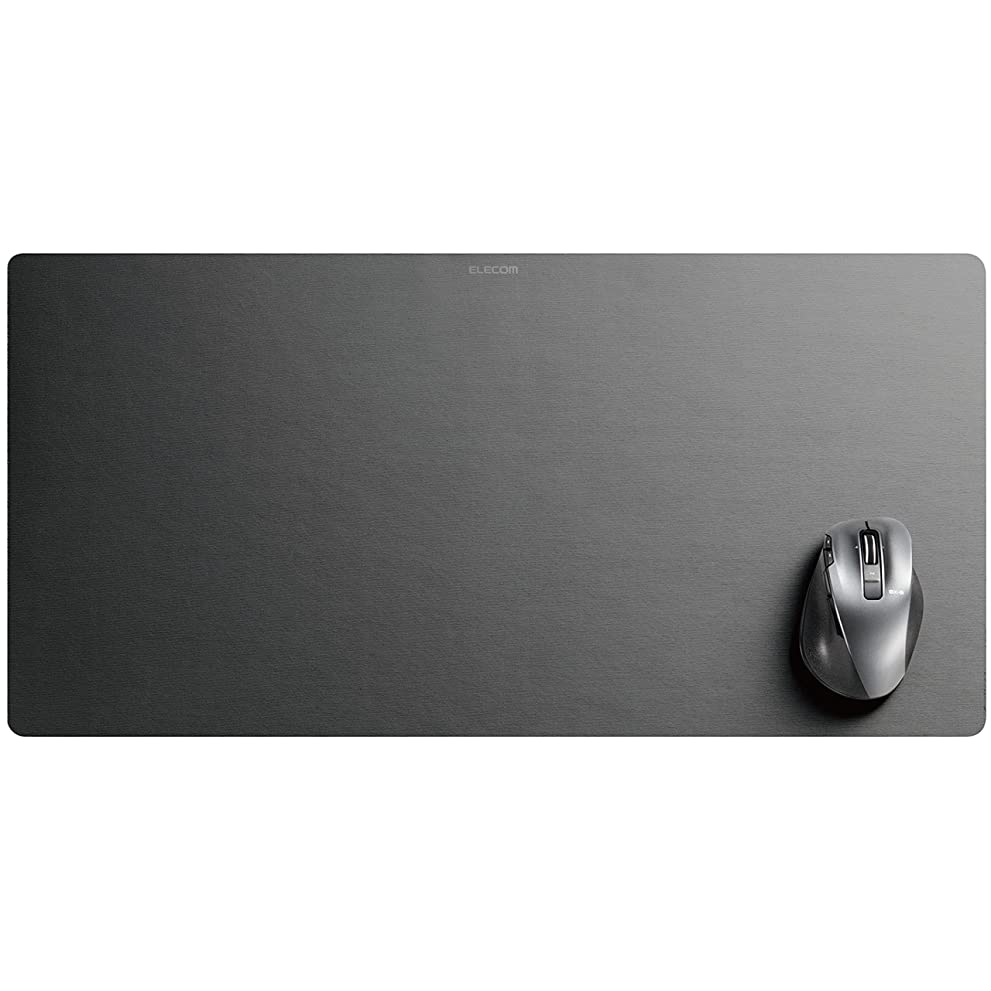 インク急性リーガンエレコム マウスパッド デスクマット 超大判 ブラック MP-DM01BK