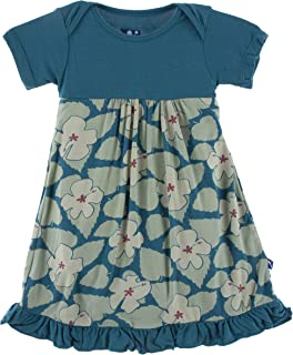 b2963d65a Kickee Pants Print Short Sleeve One Piece Dress Romper (Oasis Hibiscus -  12-18