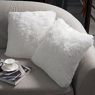 NordECO HOME Luxury Soft Faux Fur Fleece Cushion Cover Pillowcase Decorative Throw..