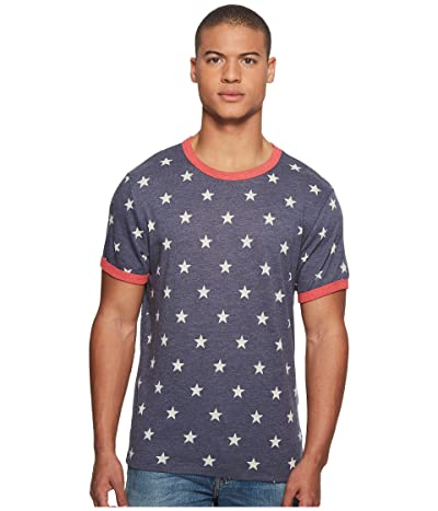 Alternative Eco Ringer Tee (Stars/Eco True Red) Men