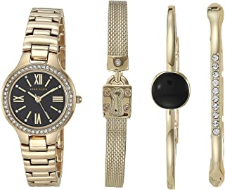Anne Klein Women's Swarovski Crystal Accented Watch and Bracelet Set, AK/3582