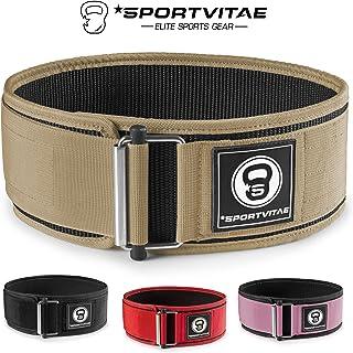 Sportvitae - Cinturón Musculación para Crossfit Halterofilia Powerlifting - Protección Lumbar Ligero Resistente Ajustable - para Hombre y Mujer